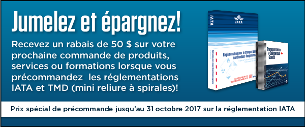 Earn a $50 off coupon for your next order when you pre-order the 2018 IATA DGR and the October edition of the 49 CFR.